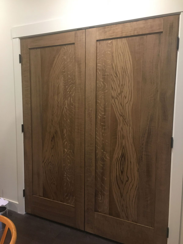 Faux Oak Grain Door