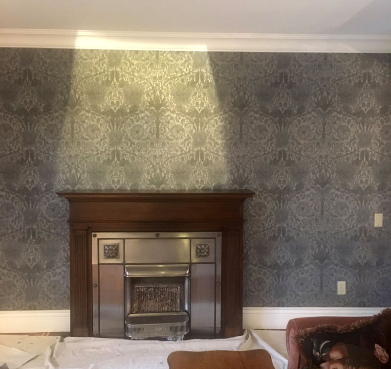 Wallpaper project william morris by Robert Ireland Canada